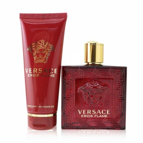 """מארז בישום לגברים EROS FLAME הכולל בושם 100 מ""""ל וג'ל רחצה 100 מ""""ל Versace"""