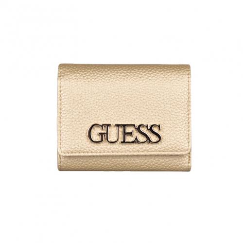 ארנק דמוי עור מבית GUESS לאישה בצבע זהב דגם MG730143