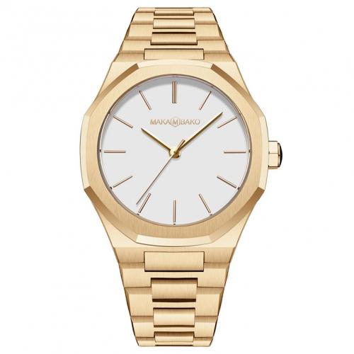שעון Maka M Bako לגבר Mb3101 זהב/ לבן