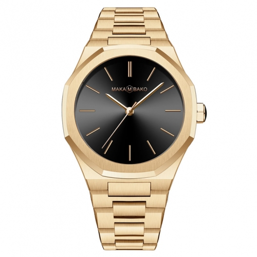 שעון Maka M Bako לגבר Mb3102 זהב
